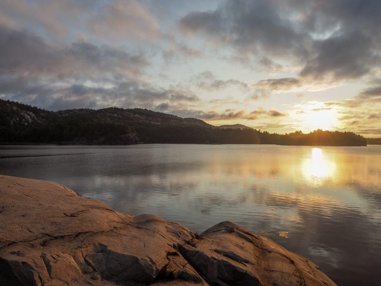 Killarney La Cloche Trail Hike Three Narrows Lake Sunrise