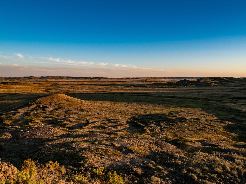 Grasslands National Park Trail Sunset