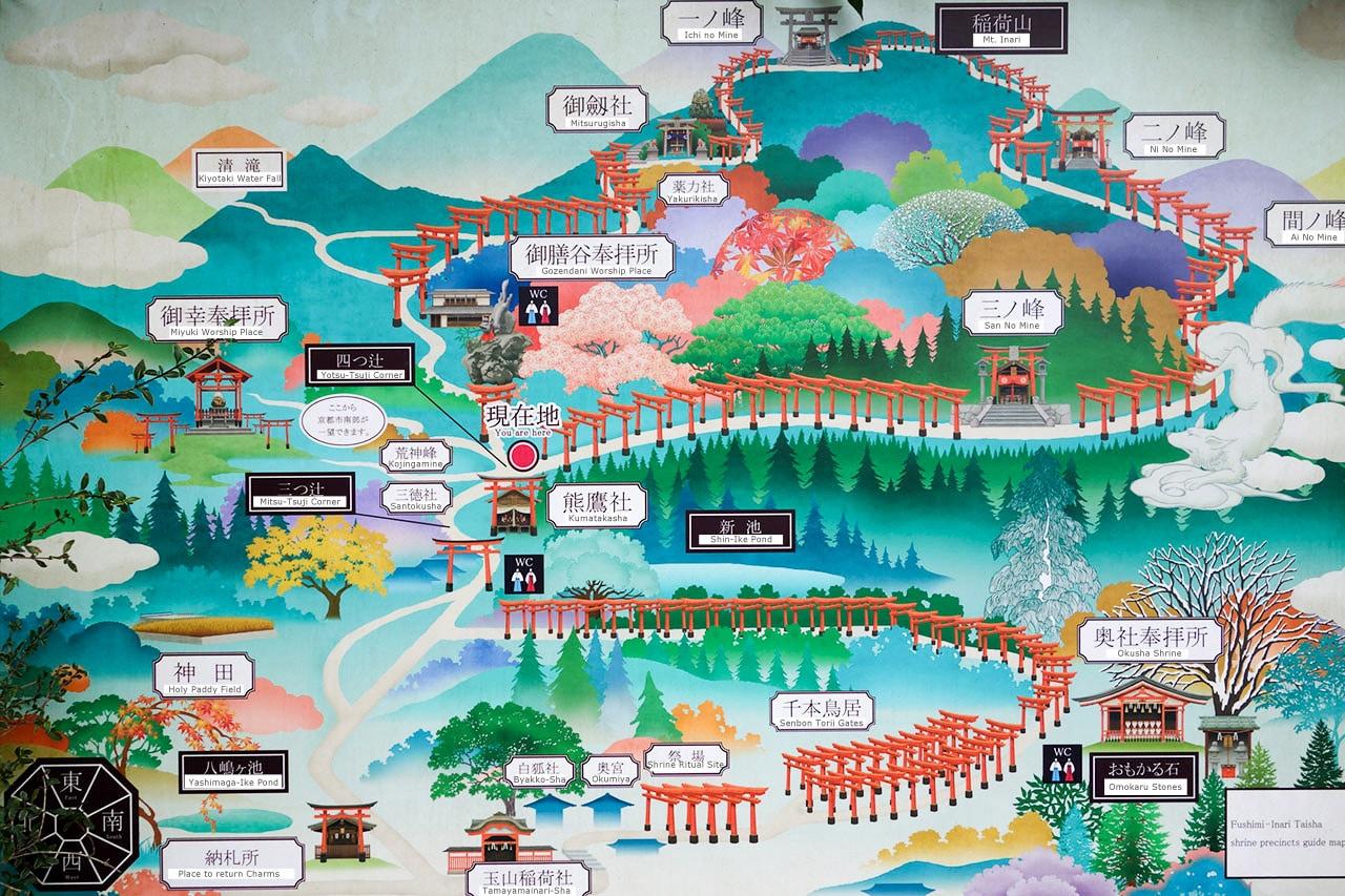 fushimi-Inari-trail-map